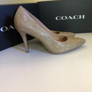 Coach Gold Size 8 NWT Addie Heels